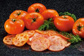 トマトの薄切り