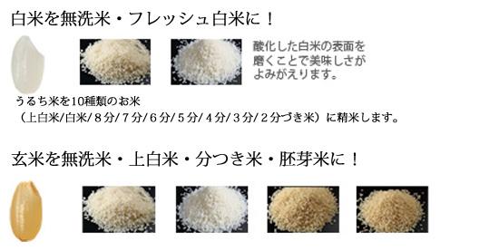 匠味米の精米