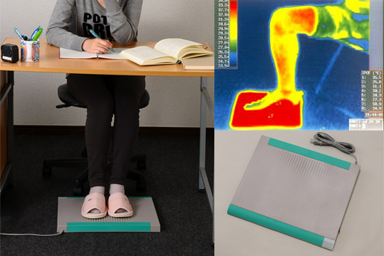 足温器のデスクスパ