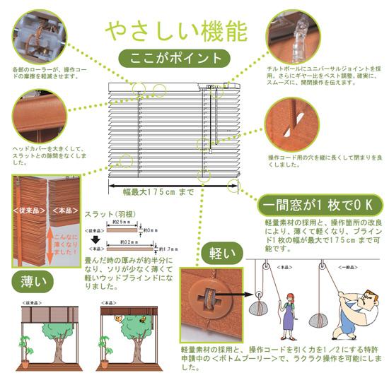 木製ブラインドの特長