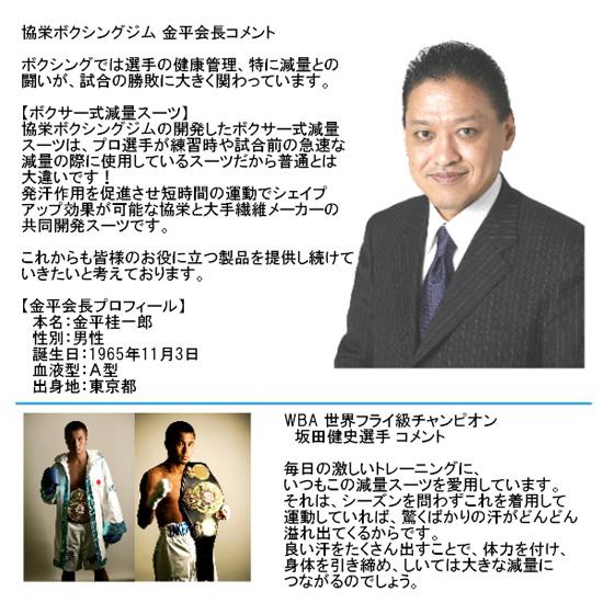 ボクサー式減量スーツ(サウナスーツ)のデザイン!