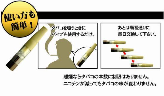 離煙パイプ使用方法