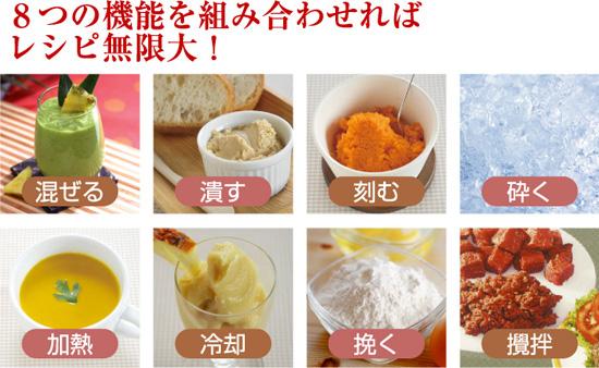 8つの機能でレシピも豊富にできるバイタミックス