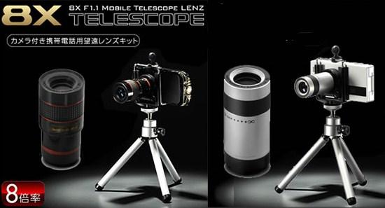 携帯用望遠レンズキット