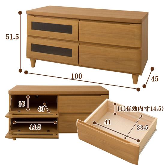 高級天然木テレビボードサイズ100