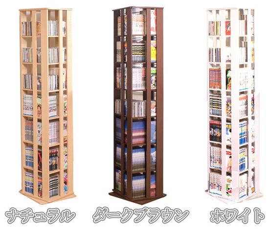 回転式コミック本棚のタイプ
