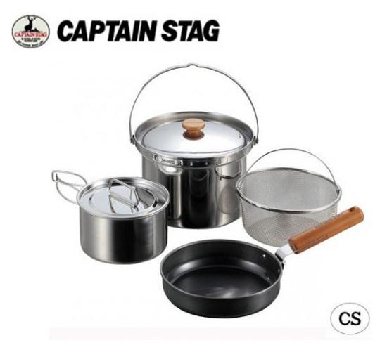 Coyk: CAPTAIN STAG フィールドシェフ クッカーセット4 UH-4201 の通販【送料無料】