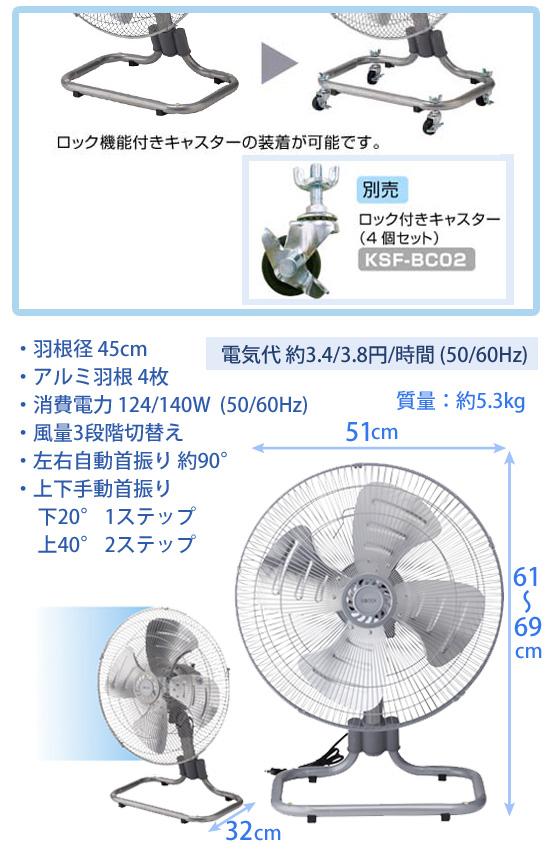 業務用コンパクト扇風機