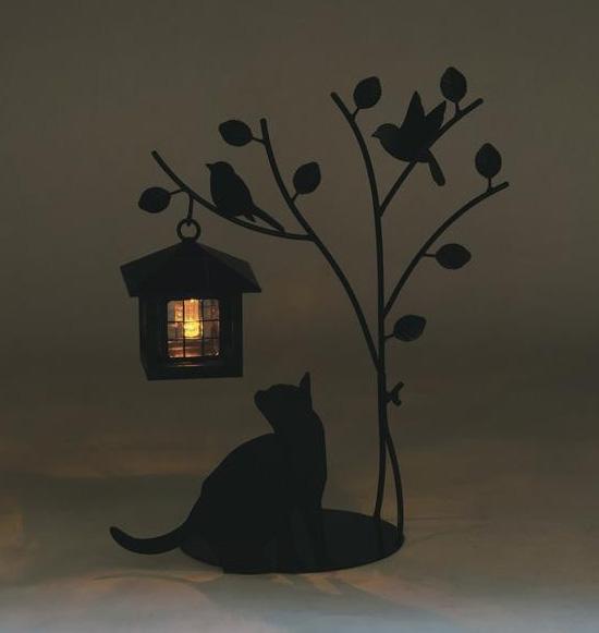 猫のソーラーライト