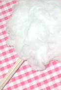 かわいい綿菓子のできあがり♪