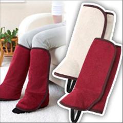 ひざ下から足首まで暖まる足首ウォーマー