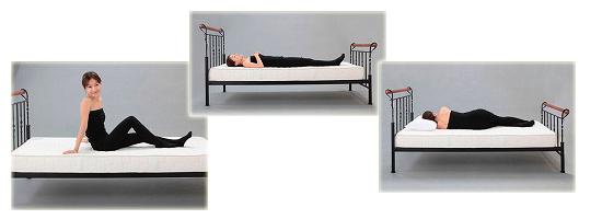 しっかりとした姿勢で睡眠できるエコラックスマット