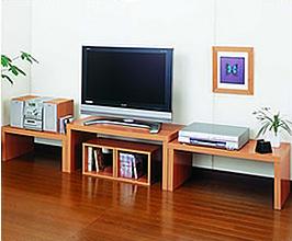 ネストテーブル オーディオルーム設置例