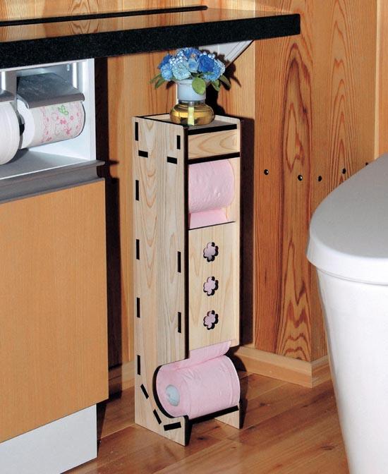 トイレ紙の収納に。ペーパーホルダー