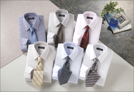 ワイシャツ&ネクタイセット(銀座・丸の内Ver)カラー系