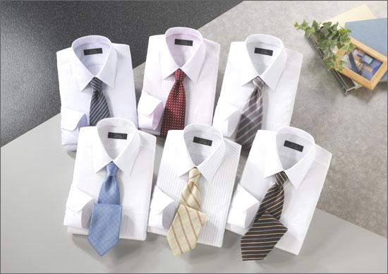 ワイシャツ&ネクタイセット(銀座・丸の内Ver)ホワイト系