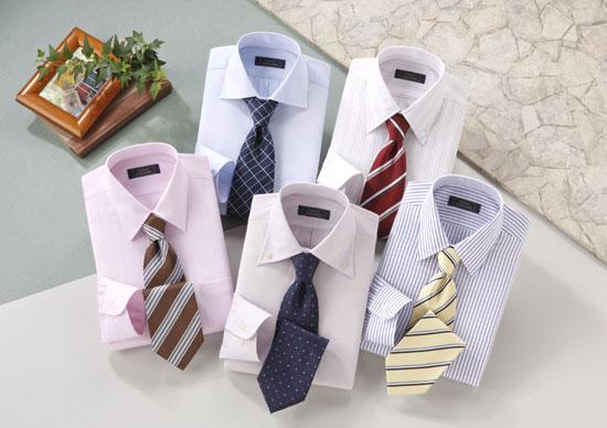 ワイシャツ&ネクタイセット(六本木・青山Ver)カラー系