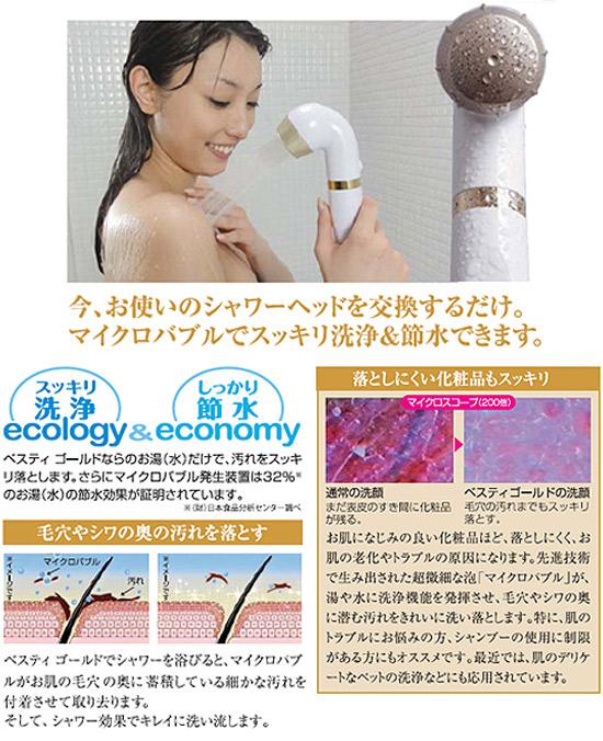 シャワー型マイクロバブル発生器 ベスティゴールド