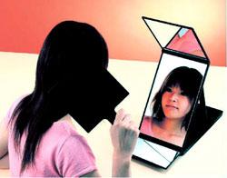 【ヘアカラーミラー】は、髪染め用の鏡