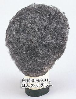 白髪混30%