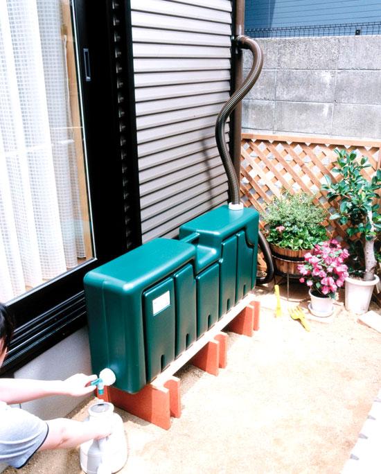 雨水貯水タンクで、自宅でできる簡単エコ♪