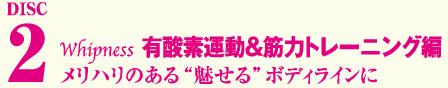 Whipness【ウィップネス】 ☆Disc2・・・有酸素運動&筋力トレーニング編