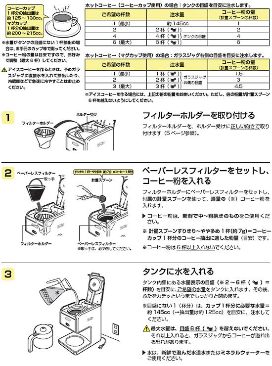 コーヒーの作り方(手順1)