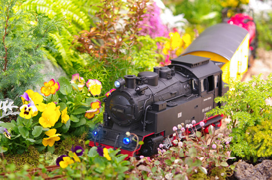 庭や庭園で楽しめる蒸気機関車