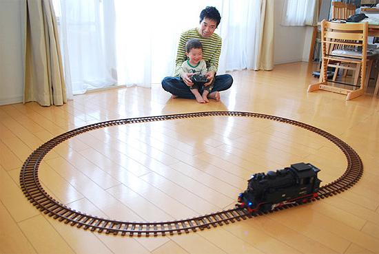 室内でのラジコン機関車設置例