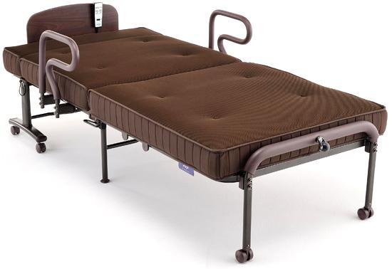 ベッドがフラット状態の写真