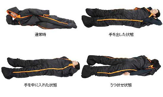 人型寝袋の使い方