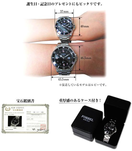フォーベル腕時計の使用例