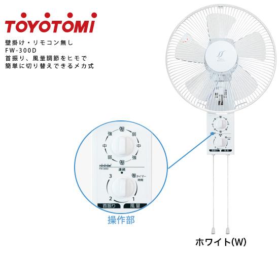 壁掛け扇風機 FW-300D TOYOTOMI トヨトミ