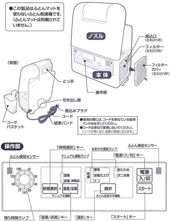 象印 ふとん乾燥機 スマートドライ RF-AA20