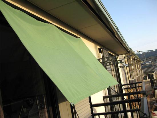 アパートマンションのベランダ・バルコニーに設置した場合(カラー:グリーン)
