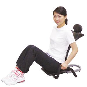 スプリングがサポート スプリングの力が腹筋運動をサポート。腹筋がしづらくてもラクに置き上がれ..