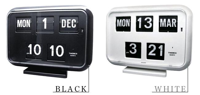 パタパタ時計[TWEMCO トゥエンコ QD-35 カレンダー機能付き]