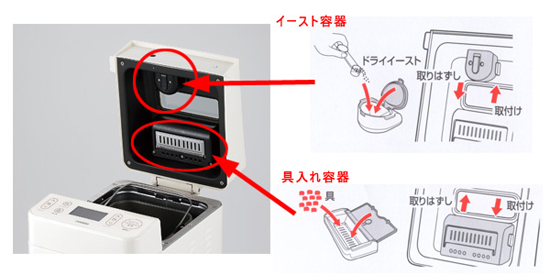 パン焼き機[TWINBIRD ホームベーカリー PY-D538W]レシピ付き!天然酵母のパンOK!