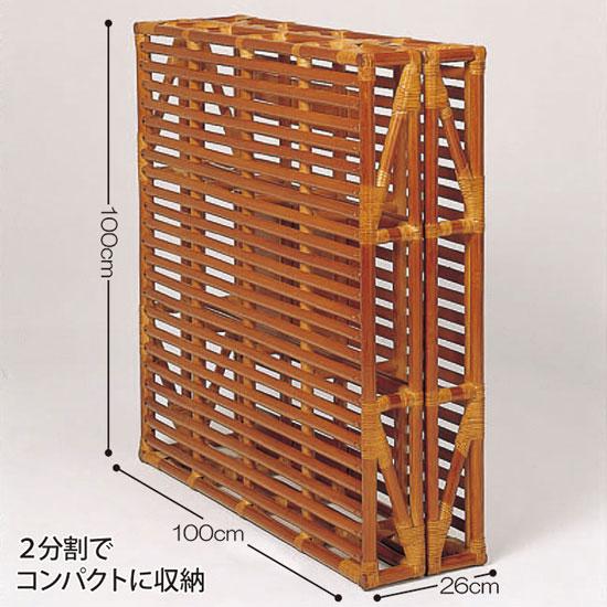 籐すのこベッド(藤すのこベッド)[天然素材 ラタン(とう)の折畳みスノコベッド]