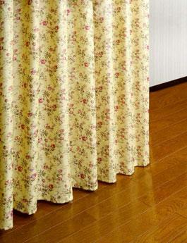 つっぱり式カーテン下部